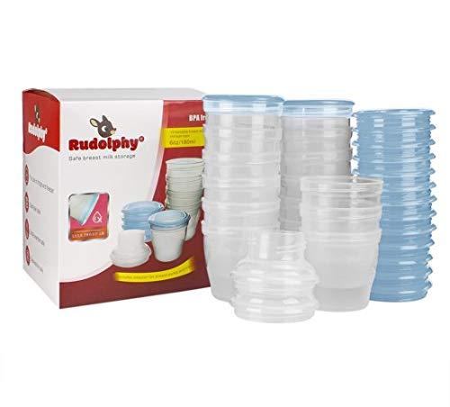 Rudolphy Cups   180ml   15 stuks/pcs   BPA vrij/free   Babyvoeding & borstvoeding bewaarbakjes   moedermelk bakjes  voeding bewaarbeker   babyfood storage containers