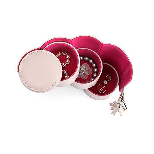 CHENGXI Caja de joyería de gran capacidad portátil de viaje caja de joyería mini organizador de cuero de la PU accesorios de almacenamiento caja de joyería