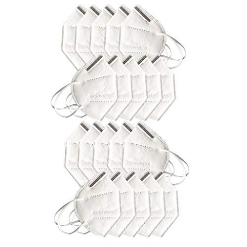 YpingLonk 20/25/30/50pc Bufanda Unisex para Adultos - Moda Universal elástico Earloop Suave Lindo para el Trabajo Diario al Aire Libre - 10120-2