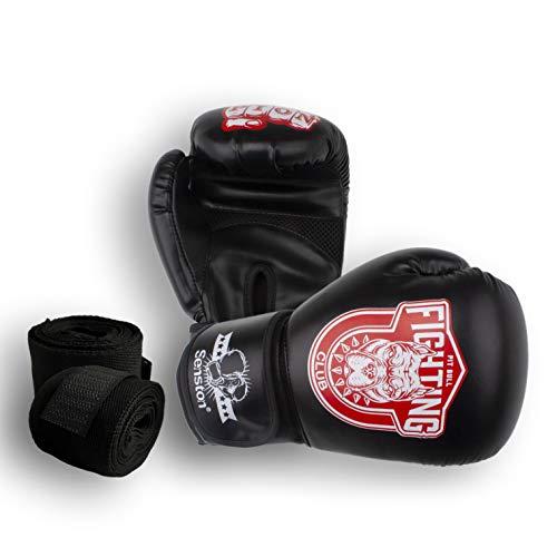 Senston Boxhandschuhe Martial Erwachsene 10 12 OZ Sparringhandschuhen für Männer und Frauen Kickboxhandschuhe für Boxen, Kampfsport, MMA, Sparring