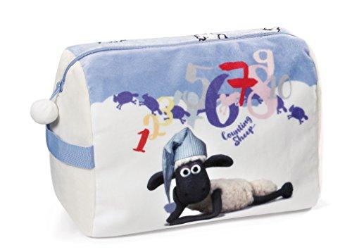 NICI 41482 Shaun das Schaf Kulturtasche mit Schlafmütze, 26 x 20 x 15 cm, Farbe: Bunt