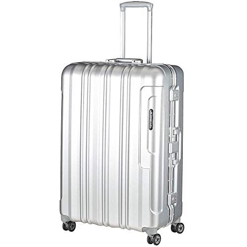 March 15 Cosmopolitan Platinum 4-Rollen-Trolley 78 cm Silver Brushed alu Look