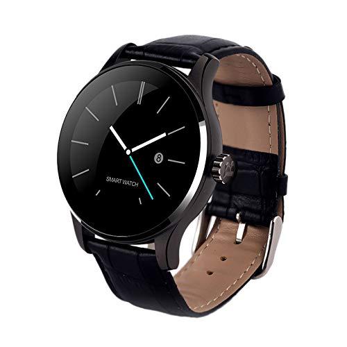 Katigan K88H Reloj Inteligente MonitorizacióN de la Frecuencia CardíAca Monitor de Sueeo en Disco Ultrafino Recordatorio en Tiempo Real Pulsera Deportiva Negro