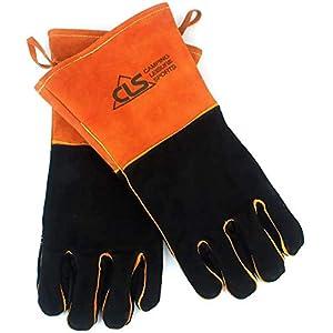 SWAG GEAR CLS GPD耐熱グローブ キャンプグローブ 牛革 耐火 レザーグローブ BBQ アウトドア キャンプ 手袋 薪ストーブ 焚き火台 作業用手袋