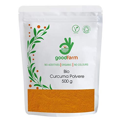 GoodFarm, Polvere di curcuma biologica, 500 g