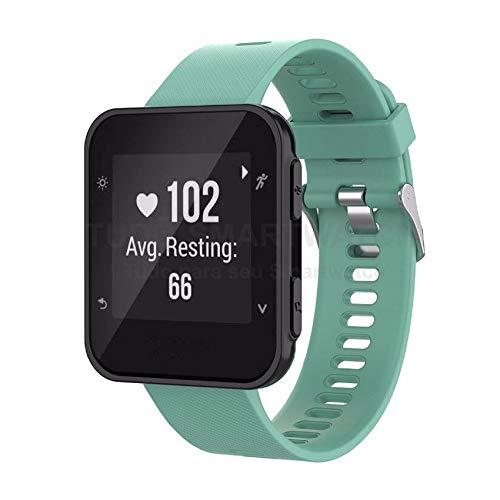 Pulseira de Silicone Verde Turquesa para Relógio Garmin Forerunner 35