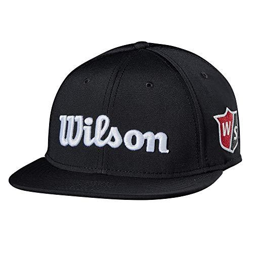 WILSON Herren Golf Tour Flat Brim Hat Mütze, schwarz, Erwachsene