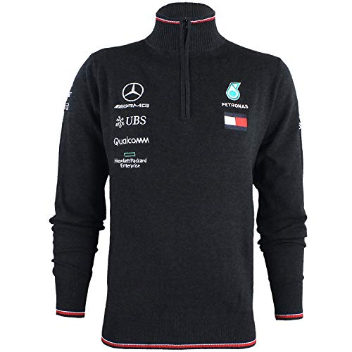 Official Formula 1 Merchandise | Männer | Offizielle Mercedes-AMG Petronas Motorsport 2019 | F1™ | Team-Strick-Pulli | Farbe: Grau | Größe: L