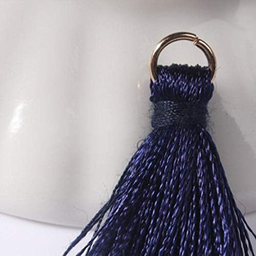 12 stks/partij 2 cm mini polyester kwasten kleine kwasten voor sieraden maken levert armband ketting bevindingen & componenten materiaal, 20 marineblauw