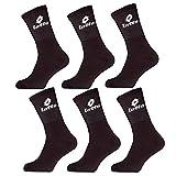 Lotto - Calcetines deportivos para hombre, pack de 6, color: Negro