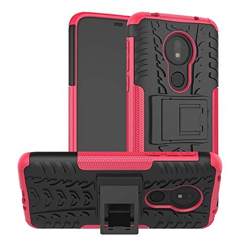 Preisvergleich Produktbild LFDZ Moto G7 Power Hülle,  Abdeckung Cover schutzhülle Tough Strong Rugged Shock Proof Heavy Duty Case Für Motorola Moto G7 Power (Nicht zutreffend Moto G7 / G7 Plus / G7 Play), Rosa