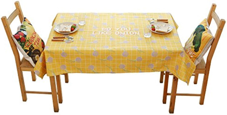 Les nappes de rectangle tableaux nappe pour salle à hommeger des tissus imprimés nappe simple coton linge modernes et anti - huile de table à café d'épaisseur-F-110x110cm(43x43inch)