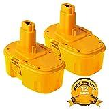 2Pack 4.0Ah 18V DC9096 Battery for Dewalt, Battery for Dewalt 388683-12 651034-01 DE9039 DE9095 DE9096 DE9098 DW9096 DW9095 DW9098