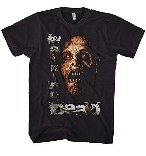 Tee-Shirt Walking Dead Zombie avec Rick, Michone Série Star TV - Noir, Noir, XL, XL