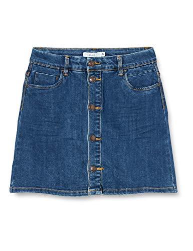 NAME IT Mädchen Jeans Rock NKFTECOS DNM 3397 A-Shape Skirt, Größe:158, Farbe:Dark Blue Denim