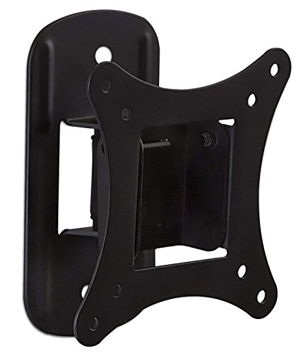 Mount-It! MI-2829 Small TV Monitor Wall Mount | RV TV Mount | Quick Release VESA Wall Mount | Fits 19 20 21 22 23 24 25 Inch Screens | 75 100 VESA Compatible | Low-Profile Slim Design | 44lb Capacity
