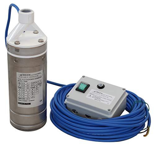Countrymarket-Bomba de agua sumergida para pozos con 20 m de cable