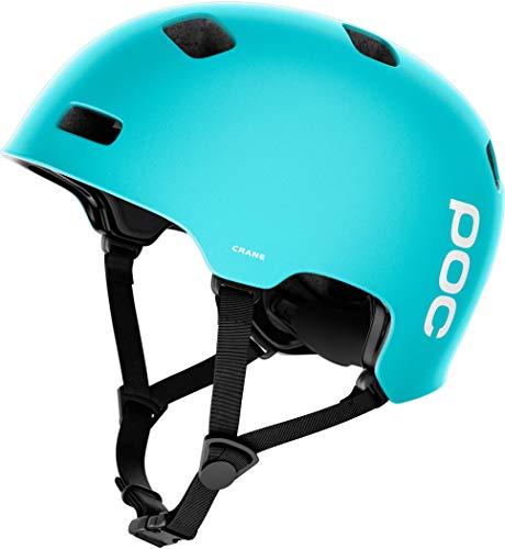Poc Axion Spin H Casco de Ciclismo Negro M-L//55-58 Adultos Unisex Uranium Black//Kalkopyrit Blue Matt