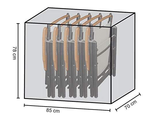 GRASEKAMP Qualität seit 1972 Stuhlhülle Schutzhaube Plane für 4-6 Klappstühle PE Weiß