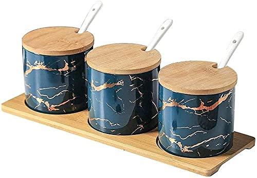 Eenvoudige keramische keuken voedsel container opslagtank gebruikt in kruiden suikerkom kruiden box keuken opbergfles…