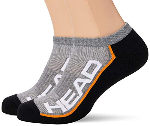 HEAD Unisex Performance Sneaker 2p Socken, Grey/Black, 43/46