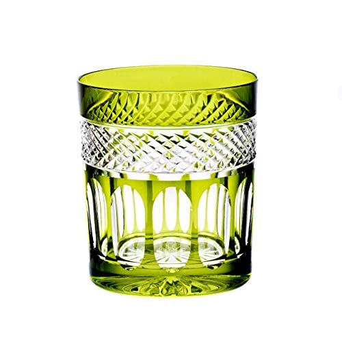 CRISTALICA Verre à Whisky Tasse à Whisky Verte Tasse Potable Coupe à la Main Verre Cristal 280Ml
