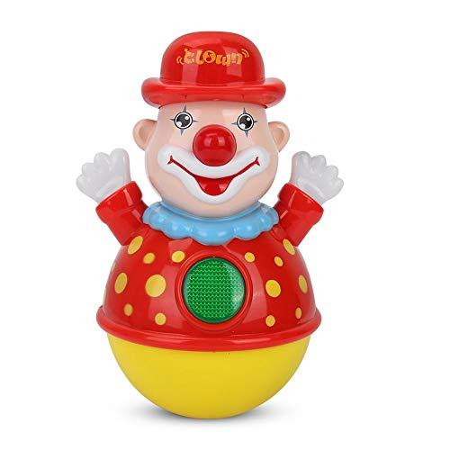 VGEBY Tumbler Baby Spielzeug, Niedlichen Clown Muster Musik Rassel Roly-Poly Spielzeug Lernspiel für Kinder Baby Kleinkind