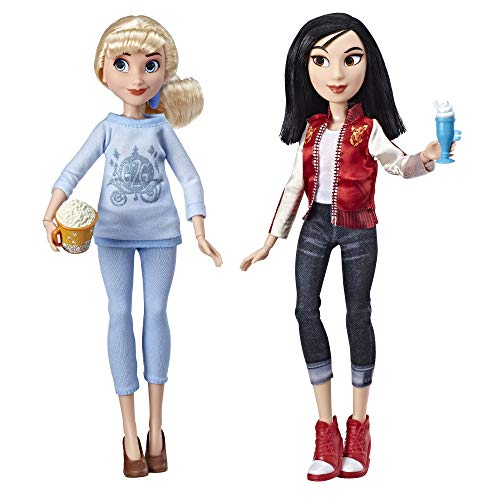 Disney Princess Ralph Breaks The Internet Movie Dolls, Cinderella & Mulan Dolls with Comfy Clothes & Accessories