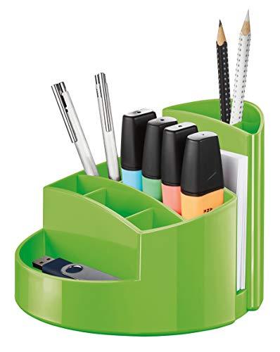 HAN Schreibtischköcher RONDO – eleganter Köcher mit 9 Fächern, stabil, hochglänzend und in Premium-Qualität, grün, 17460-90
