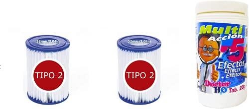 PLAINSUR Cloro 5 ACCIONES 1KG Pastillas DE 20 Gramos + Bestway -...