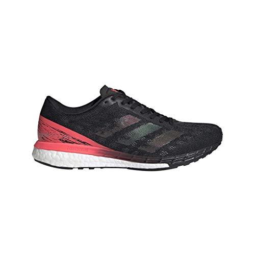 adidas Adizero Boston 9 Shoe - Women's Running Core Black/Signal Pink