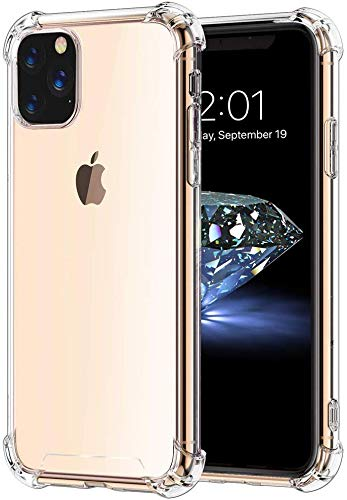 Capinha Tpu Borda Anti Impacto Transparente Silicone iPhone 11 Pro Max 6.5 Polegadas, Transparente