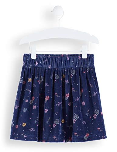 Amazon-Marke: RED WAGON Mädchen Rock Printed Velvet Skater Skirt, Blau (Navy), 110, Label:5 Years