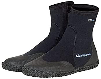 Neo Sport Premium Neoprene Men & Women Wetsuit Boots Shoes with puncture resistant sole 3mm 5mm & 7mm for warm moderate or cold water for watersports  beach boat lake mud kayak and more! Sizes 4 - 16 Men s 5 / Women s 6