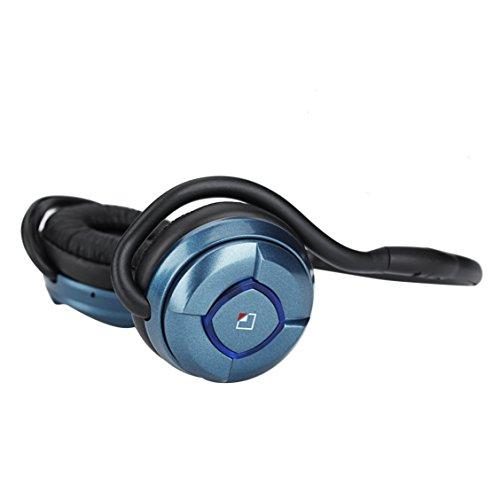 whitelabel MusicJogger Bluetooth Stereo Kopfhörer Wireless Headset integriertem Mikrofon, Wireless Sport Headset-Metall Blau