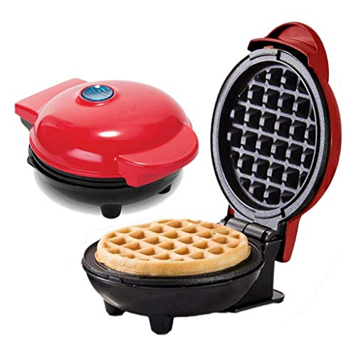 Kleine wafelijzer Mini, Paleo pannenkoek en Waffle Mix, met verwisselbare platen voor wafels of pannenkoeken, Elektrische Pan Cake Pan en Waffle Iron - non-stick elektrische kookplaat