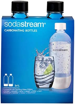 Sodastream 1l Carbonating Bottles- Black (Twin Pack)