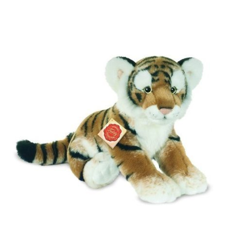 Plush Soft Toy Tiger. 32cm by Teddy Hermann