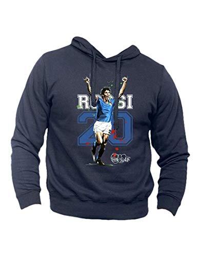 felpa calcio Generico Felpa T-Shirt Paolo Rossi Pablito Campione del Mondo 82 Italia Mondiali Calcio (XL