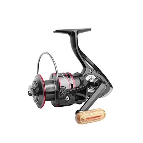 Clenp Carrete de pesca, Max Drag 8kg Izquierda/Derecha Todo Metal Spinning Pesca Carrete de Pesca Accesorios Negro 4000