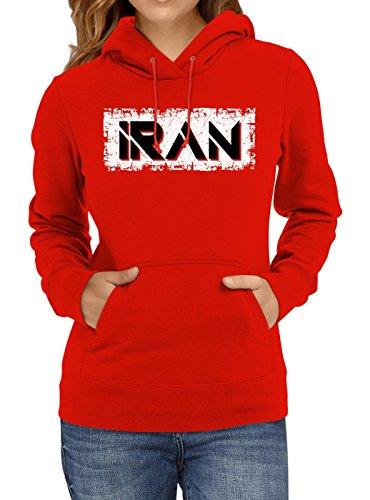 Iran Weltmeisterschaft 2018#29 Premium Hoodie Fan Trikot Fußball WM Nationalmannschaft Frauen Kapuzenpullover, Farbe:Rot;Größe:M