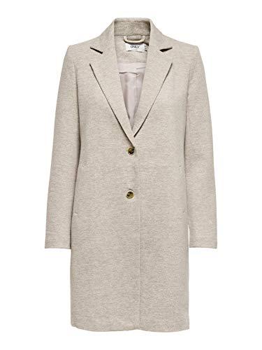 ONLY Damen Mantel Onlcarrie Mel Coat Cc OTW Melange Knöpfe, Farbe:Beige, Größe:40