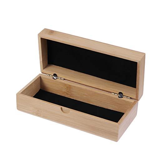 BESPORTBLE 1 Pieza bambú Primavera Flip Tipo Vasos Box Vintage portátiles Gafas de Sol Caso Gafas contenedor