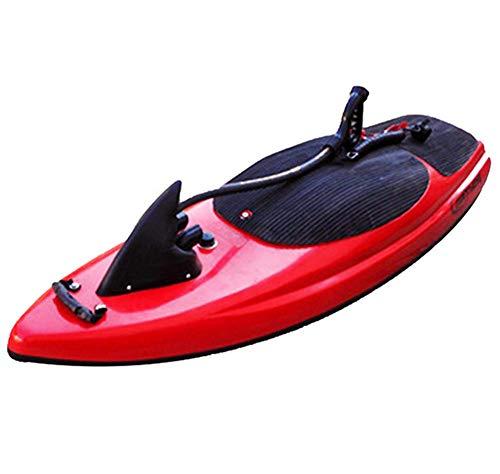 AHELT-J Elektrisches Surfbrett, Elektrisches Schwimmkickboard, Intelligente Somatosensorische Surfbrett-schwimmhilfen,Rot