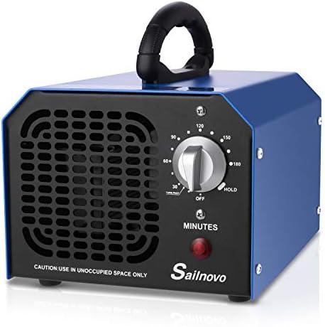 Sailnovo Générateur d'Ozone 6000mg/h Commercial Purificateur d'air Industriel Désodorisant Stérilisateur