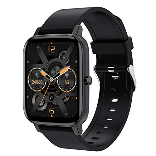 L.B.S H80 Smart Watch Men's 1.69 Pulgadas Fitness Tracker Pulsera Deportiva Reloj De Frecuencia Cardíaca Impermeable para iOS Android Smart Watch,E