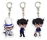 EBTY-Dreams Inc. - Set of 3 Detective Conan Anime Acrylic Keychain Conan Edogawa, Kaito Kuroba, Shinichi Kudo