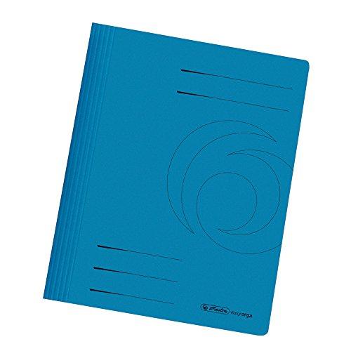 Herlitz 10902492 Schnellhefter A4, kaufmännische- und Behördenheftung, Manila-Karton, 25 Stück, blau