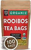 Organic Rooibos Tea Bags | 100 Tea Bags | Eco-Conscious Tea Bags in Kraft Bag | Raw from South...