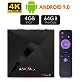 Android 9.0 TV Box, Android Box 4 GB RAM 32 GB ROM, ATETION MAX RK3328 Quad Core 64 bit Smart TV...